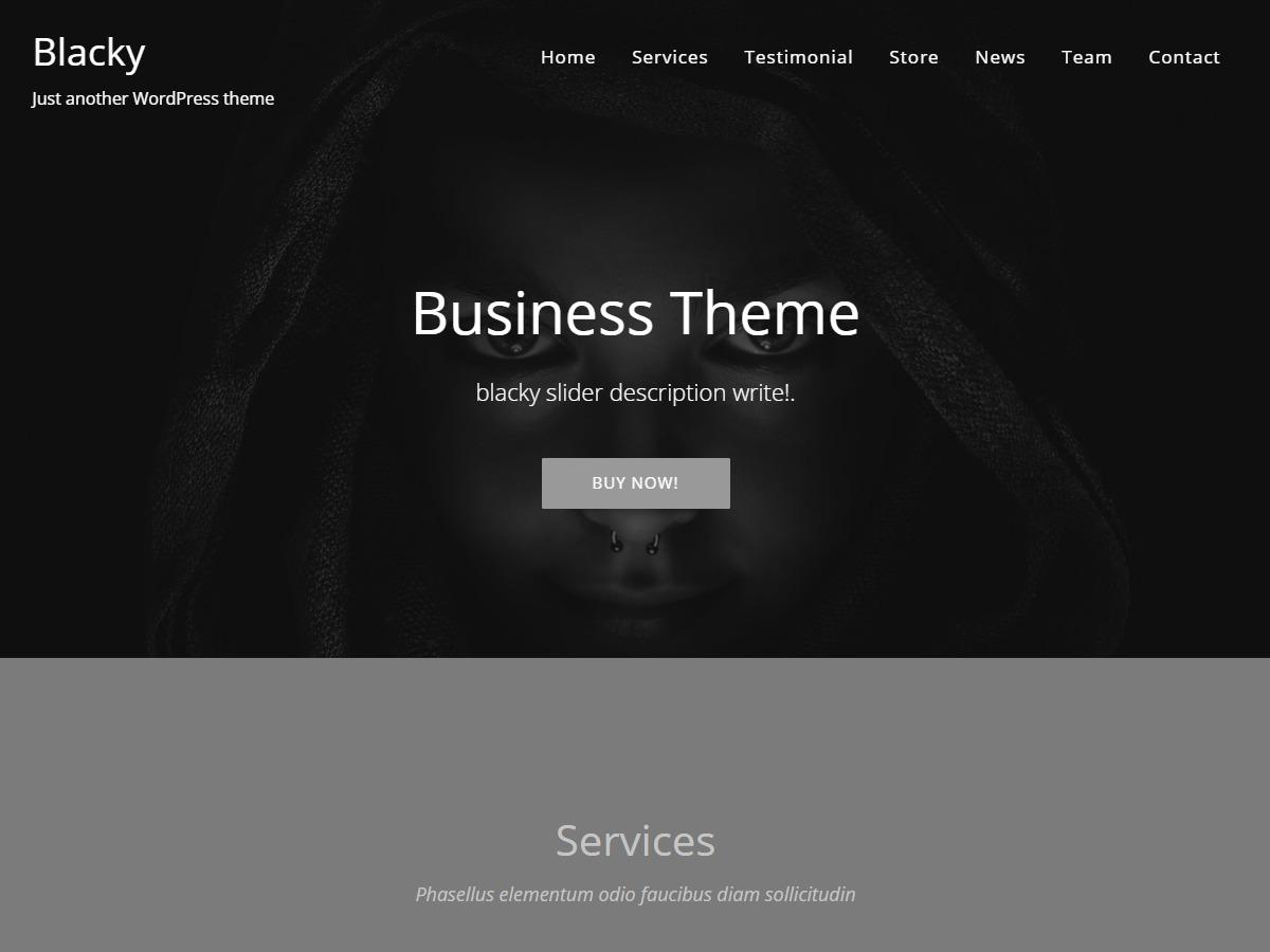 Blacky photography WordPress theme