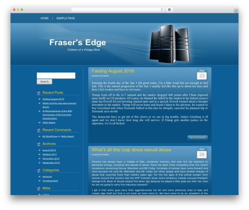 Blue Server WordPress website template - frasersedge.com