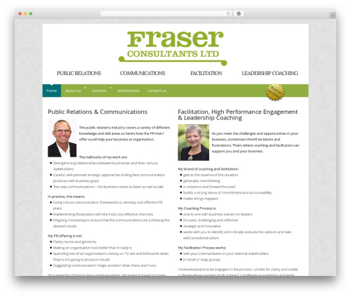 Catalyst WP theme - fraserconsultants.co.nz