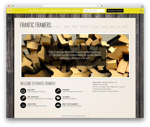 Clearly Modern WordPress template - franticframers.com