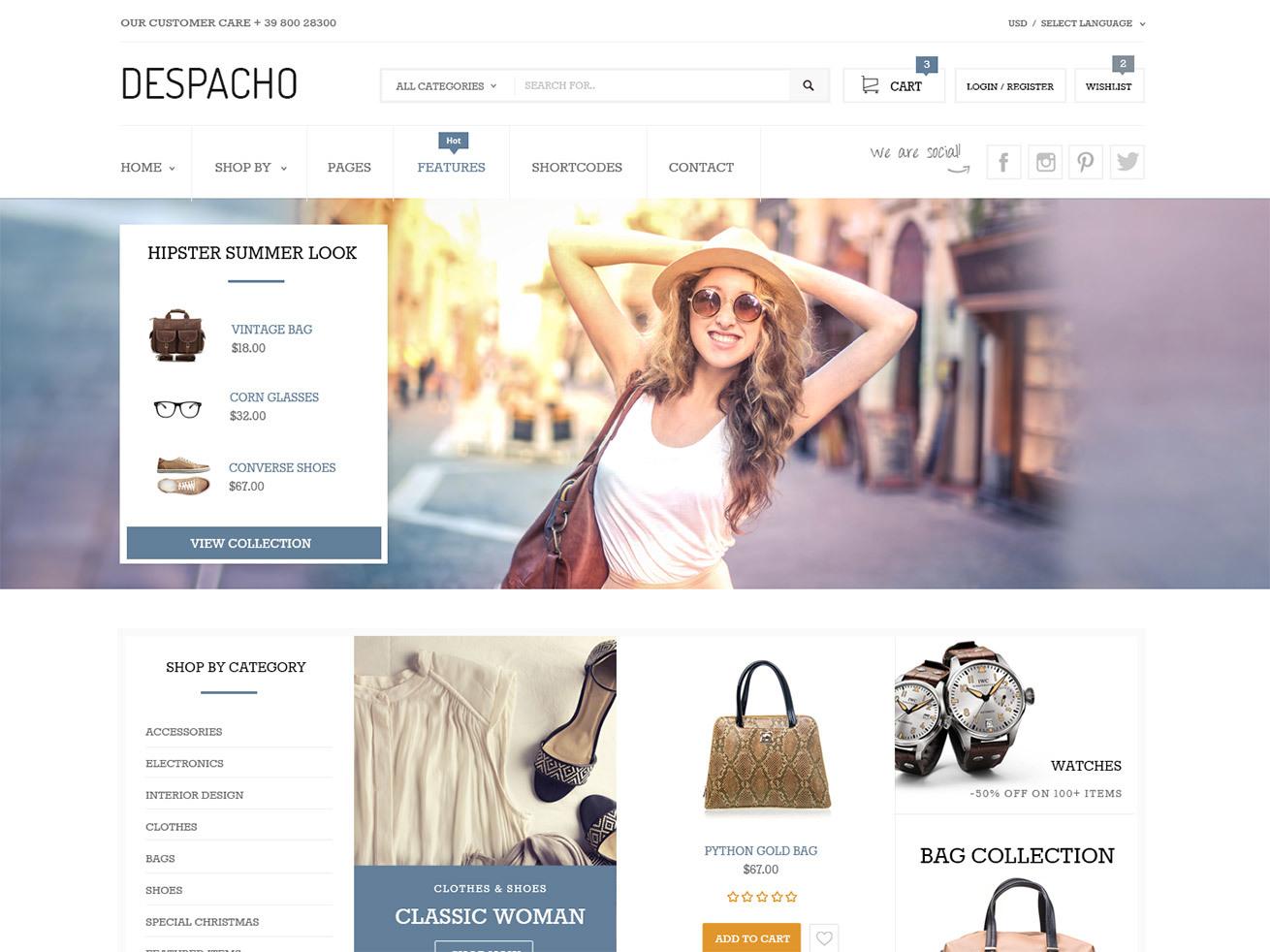Despacho WordPress ecommerce theme