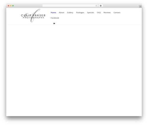 Divi template WordPress - fraserphotography.co.za