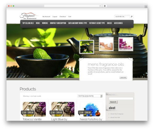 eStore best WordPress theme - fragranceoilwarehouse.com