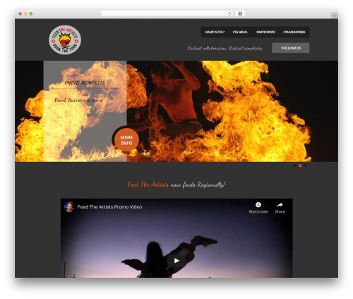 Feast template WordPress - feedtheartists.org