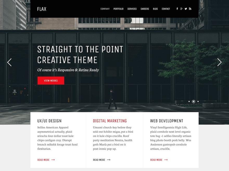 Flax WP Theme personal WordPress theme