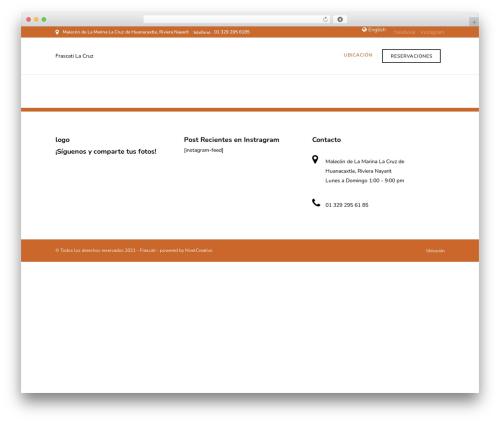 Grand Restaurant best restaurant WordPress theme - frascatilacruz.com