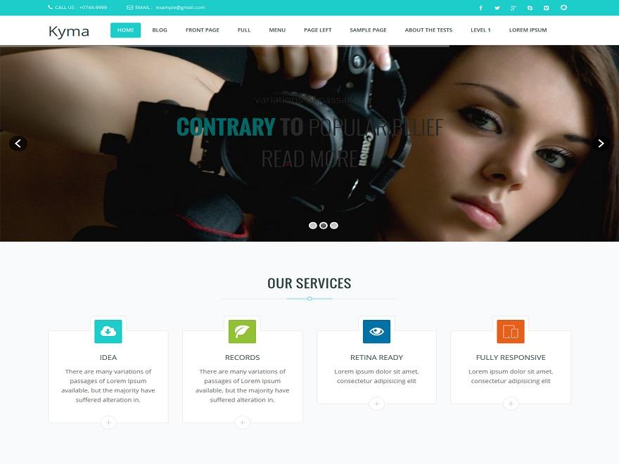 Kyma Advanced WordPress portfolio theme