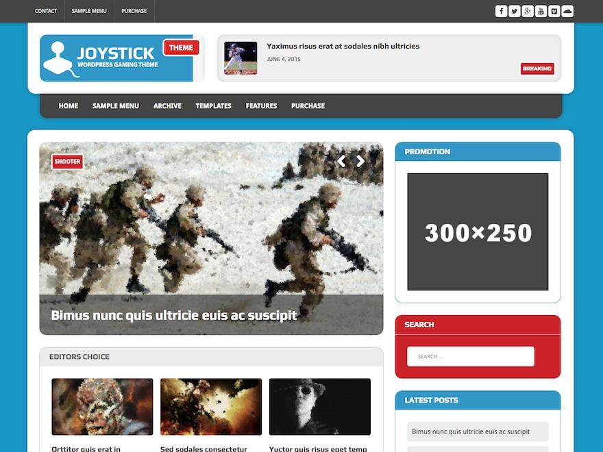 MH Joystick WordPress news template