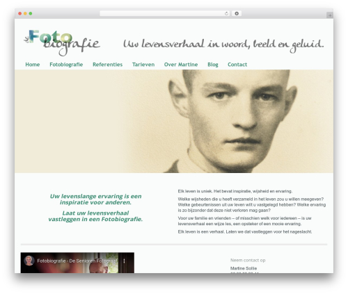 MODUS WordPress theme - fotobiografie.nl