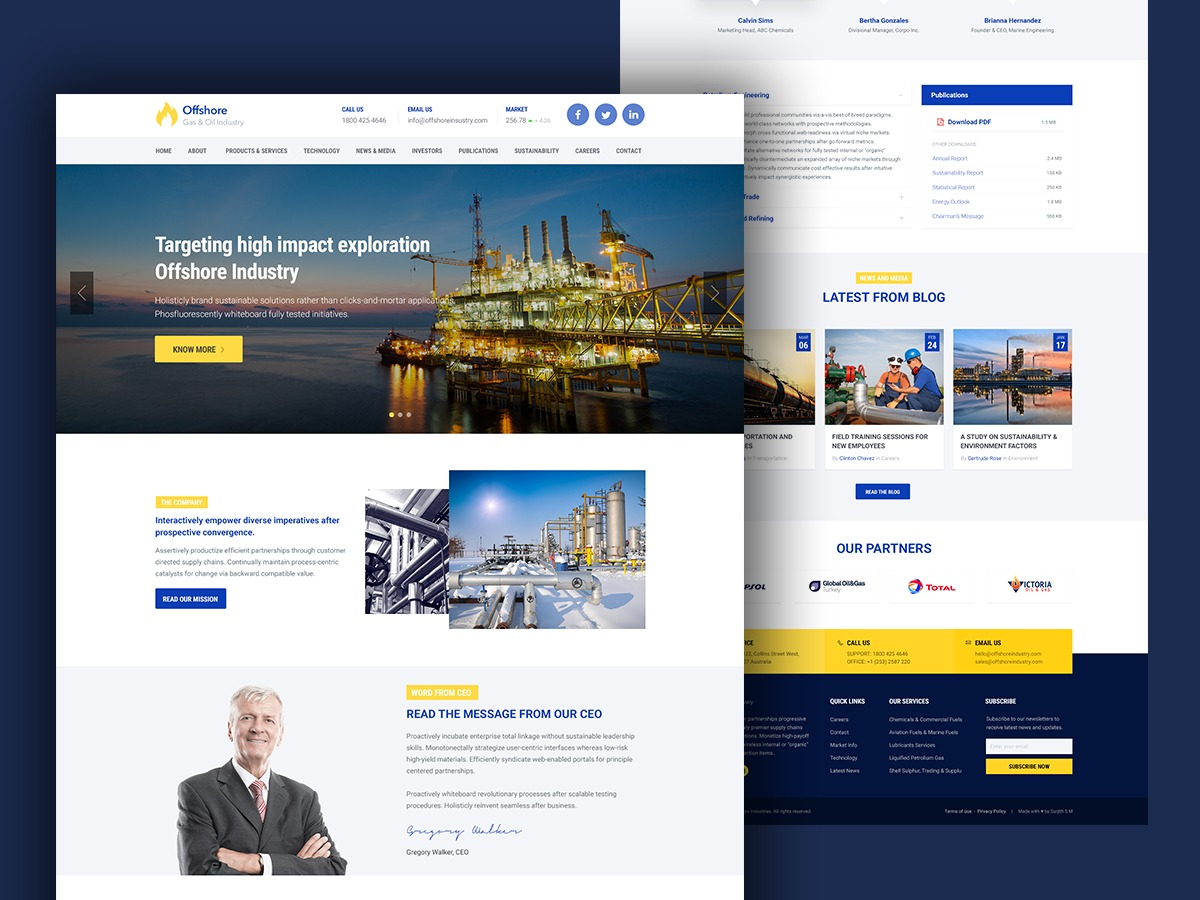 Offshore WordPress template for business