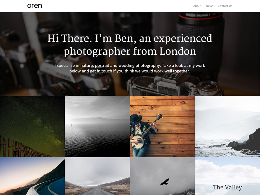Oren WordPress theme download