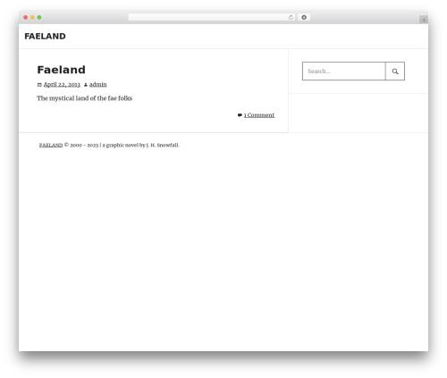 PhotoBlogger WordPress theme download - faeland.com