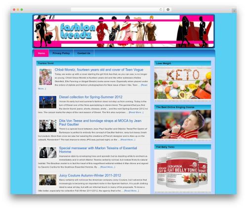 Platinum WordPress template - fashiontrendz.org