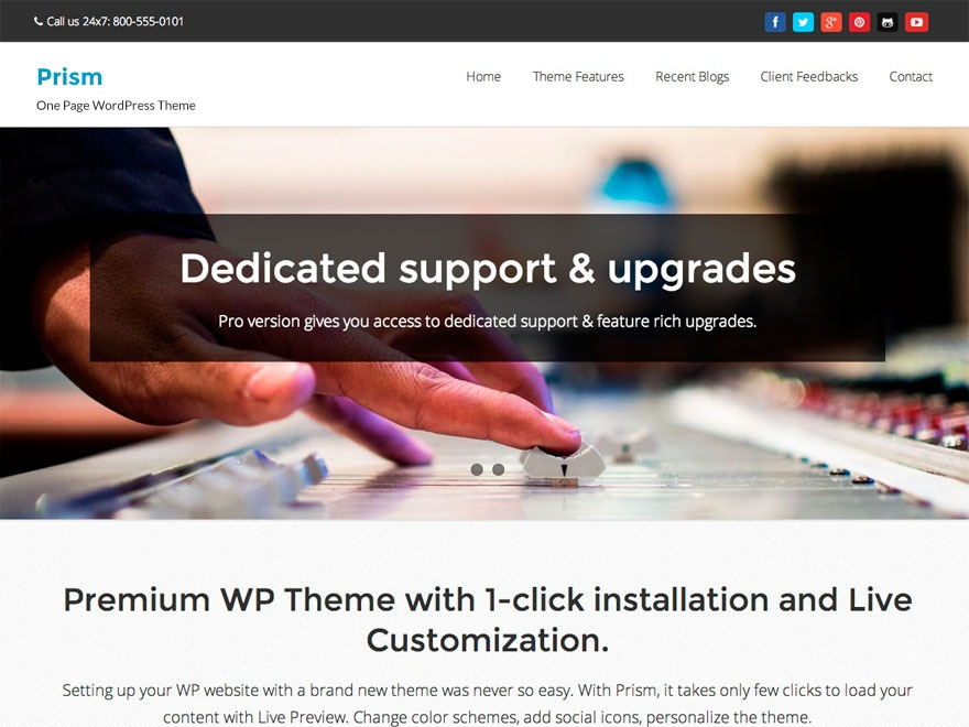 Prism WordPress shop theme