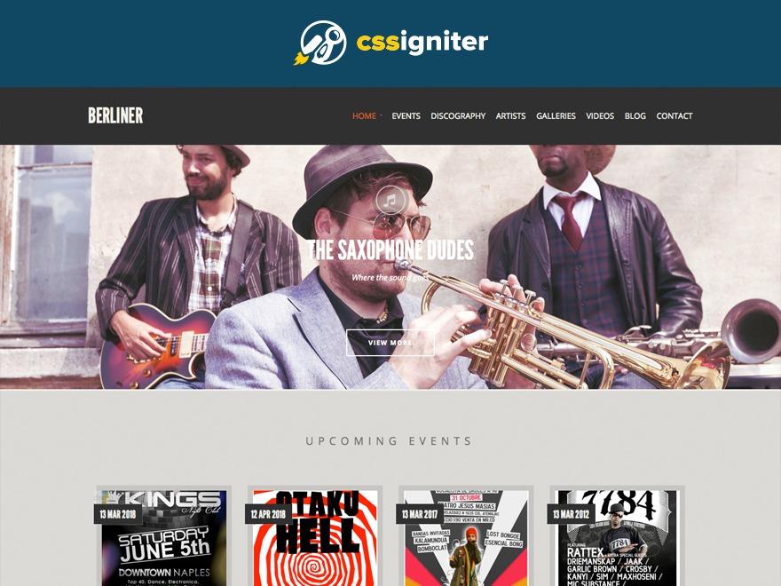 Template WordPress Berliner
