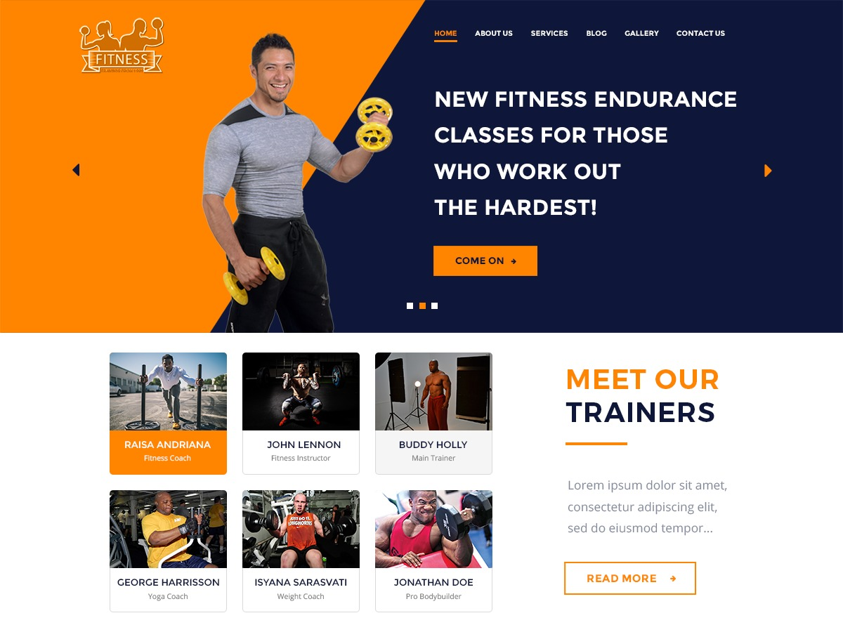 The WP Fitness theme free download