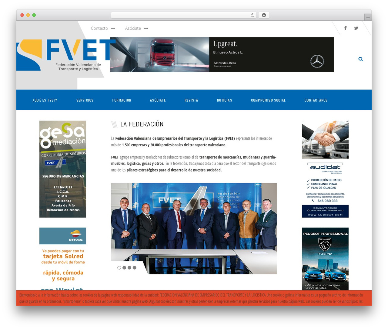 TM Transport WordPress page template - fvet.es