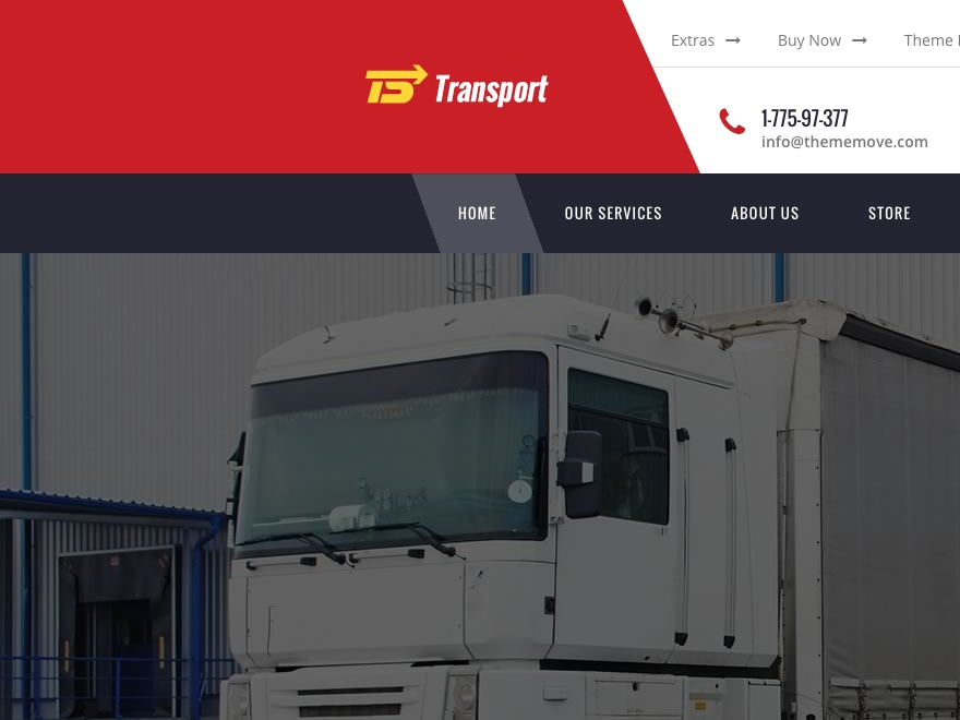 Transport Child template WordPress