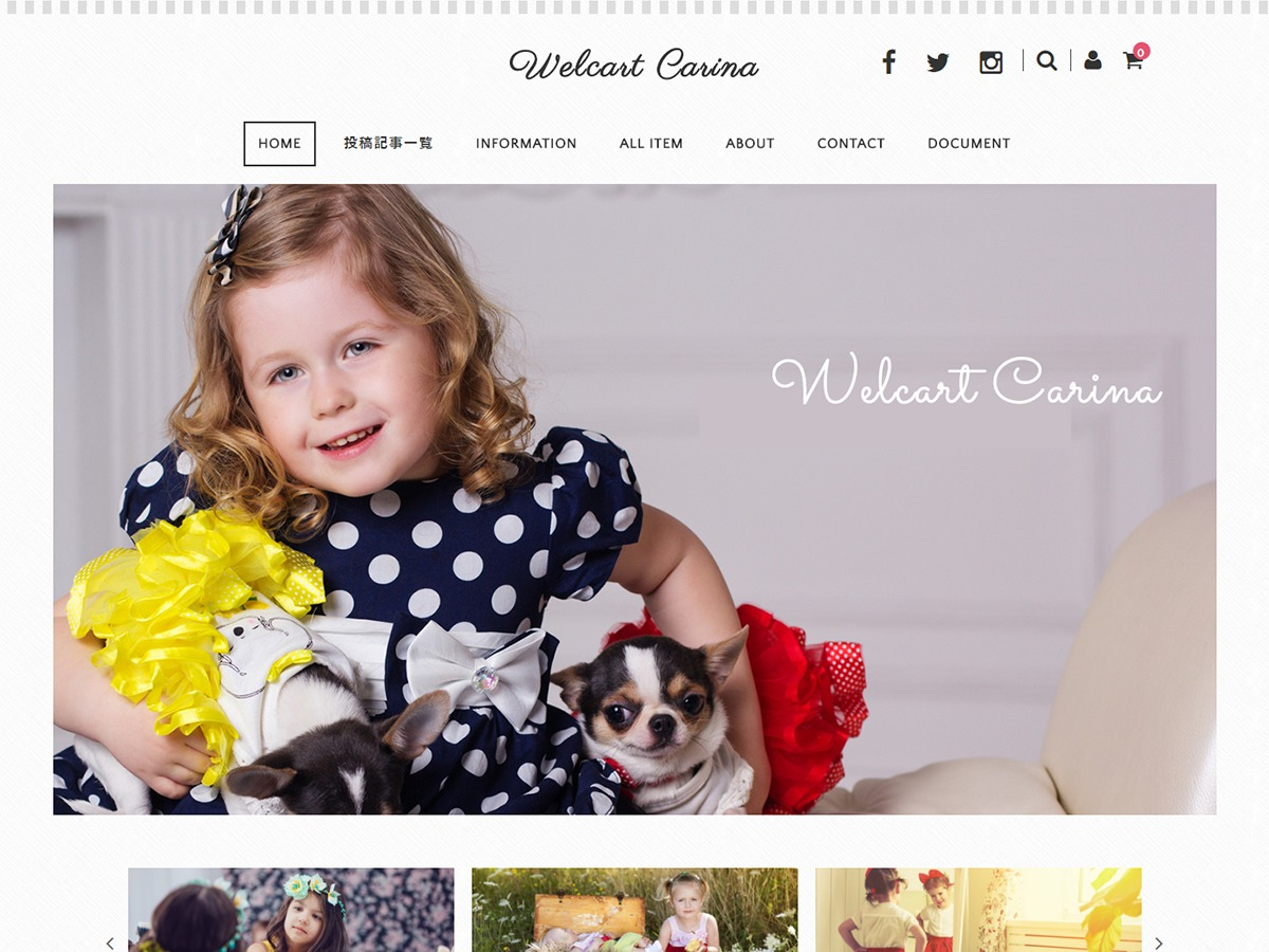 Welcart Carina premium WordPress theme