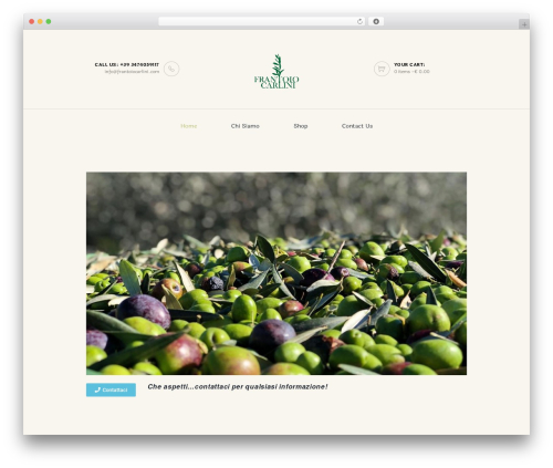 WineShop premium WordPress theme - frantoiocarlini.com