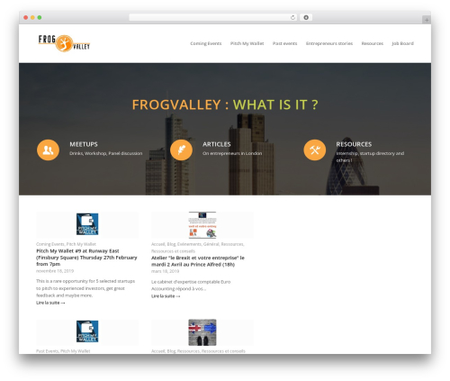 WordPress template Enfold - frogvalley.net
