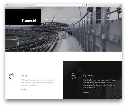 WordPress template Infinite - frame3d.co.uk