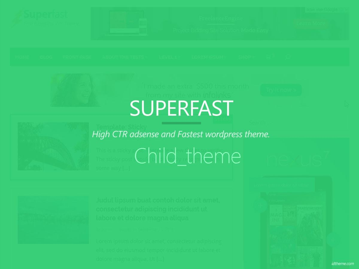 WordPress template Superfast Child