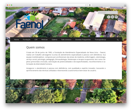 WordPress theme Catch Responsive - faenol.org.br