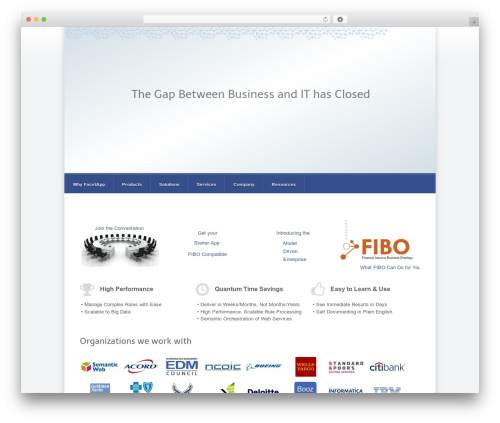 WordPress theme Razor - facetapp.com
