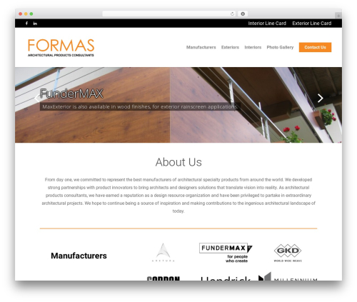 WordPress theme Salient - formasinc.com