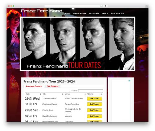 Free WordPress Tabs Shortcode plugin - franzferdinandtourdates.com
