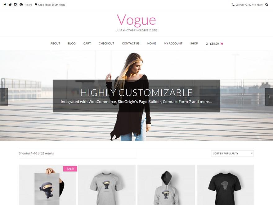 WordPress theme Vogue Child