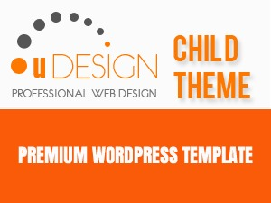 WordPress website template U-Design Child Sticky Footer