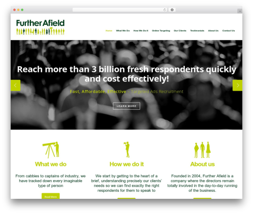 WP theme Salient - further-afield.com