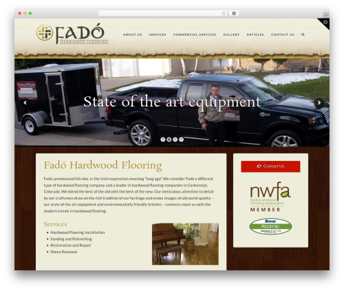 X WordPress theme - fadohardwoodflooring.com