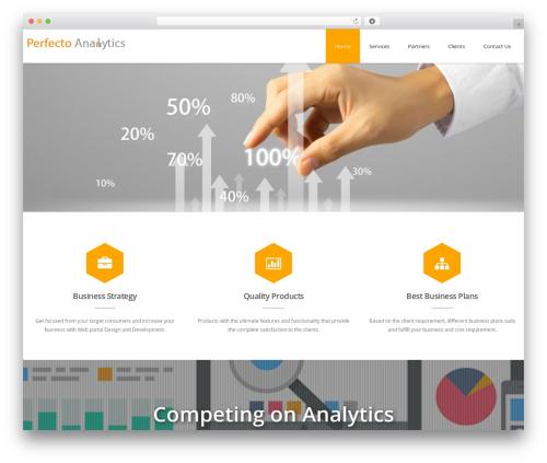 Advertica Lite WordPress website template - perfectoanalytics.com