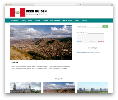 Expedition best free WordPress theme - peruguiden.se