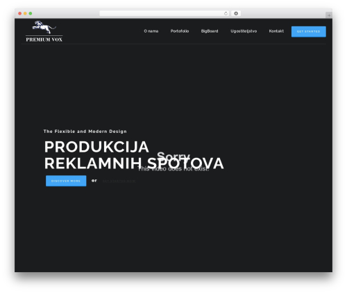 HotStar WordPress page template - premiumvox.com