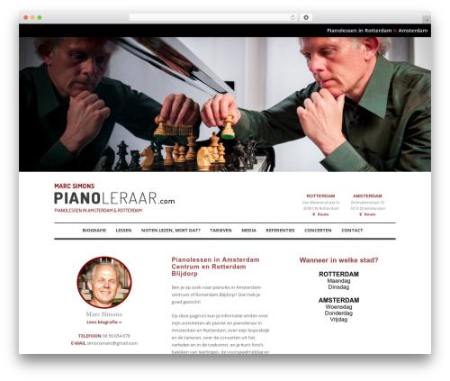 Klasik WordPress template - pianoleraar.com