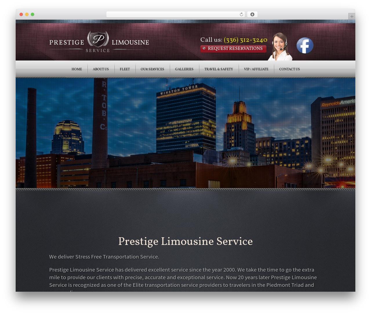 Radial Premium Theme WordPress theme - prestigelimo-nc.com