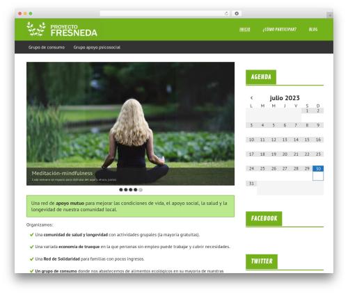 Template WordPress Fresneda-theme - proyectofresneda.org
