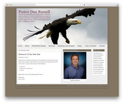 Theme WordPress Church Child Theme - pastordanrussell.com