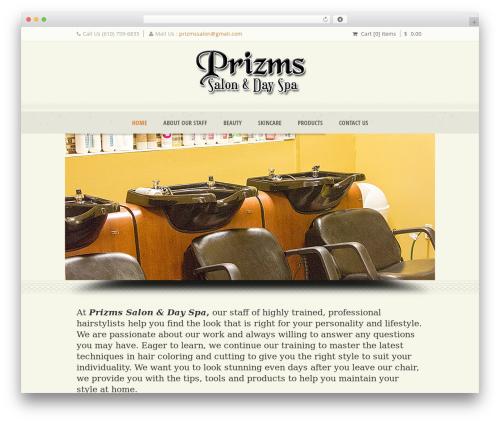 WordPress theme Dream Spa - prizmssalon.com