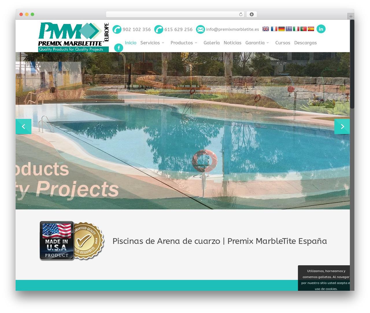 WP theme Salient - piscinasarenacuarzo.es