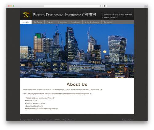 Best WordPress theme Domestica - pdicap.com