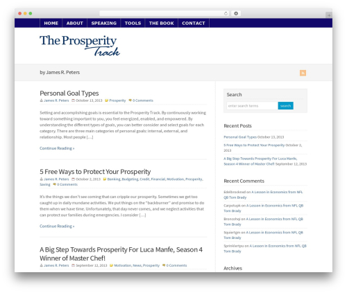 Best WordPress theme WP-Brilliance - prosperitytrack.com