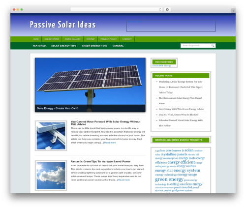 Headlines Enhanced WordPress website template - passivesolarideas.com