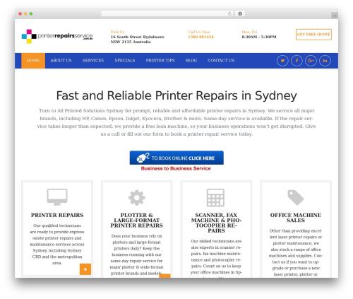 Restore WordPress theme - printerrepairsservice.com.au