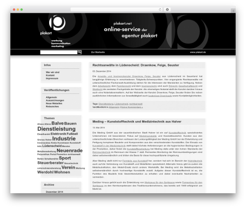 WordPress Default DE-Edition WP template - plakart.net