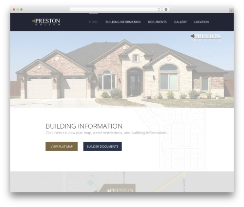 WordPress website template TheFox - prestonhollowdevelopment.com